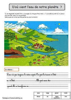 Découverte du monde CP et CE1: le cycle de l'eau