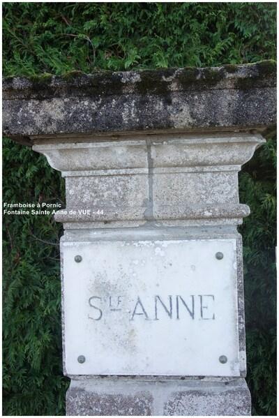 Fontaine Sainte Anne à Vue