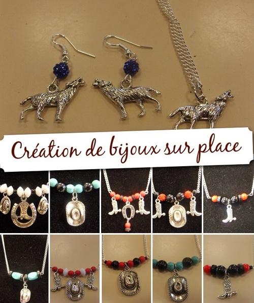 création de bijoux sur l'exposition d'artistes à  Francueil le 7 octobre 2018