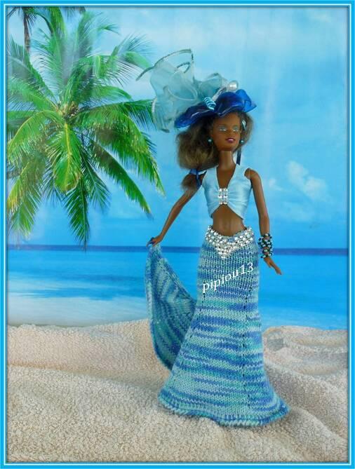 "Barbie en robe ""Curaçao"" Défi/styliste 2016"