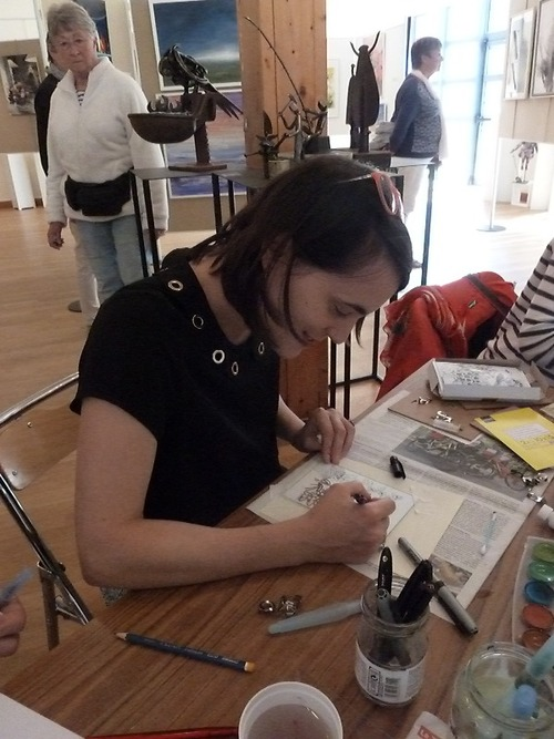 Atelier peinture sur verre par Jacqueline Page
