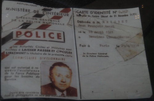"la carte ""officielle"" du commissaire Maigret ( archives Remy Demantes)"