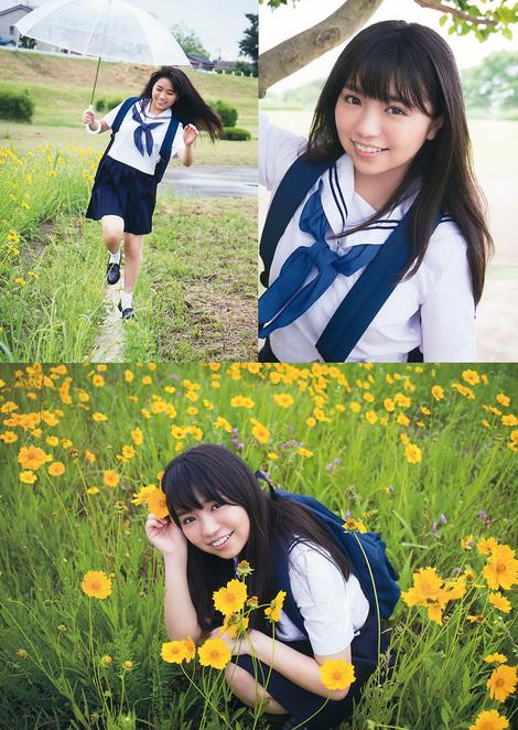 Magazine : ( [Young Animal] - 2017 / N°14 - Runa Sawakita, Hikari Takiguchi, Yuno Ohara & Marina Nagasawa Staring )