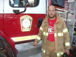 Les pompiers de la caserne de Sainte-Cécile de Whitton
