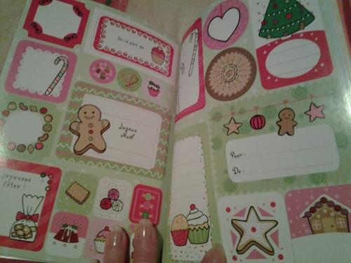 Etiquettes autocollantes pour Noël