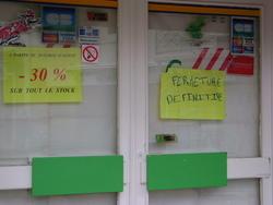 Octobre 2010 : Fermeture du Proxi-Marché
