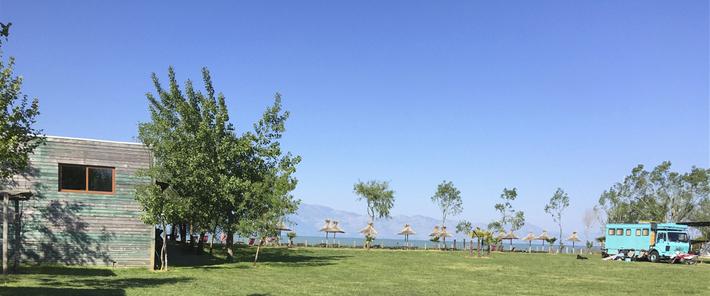 Camping Lake Shkodra Ressort -  vue depuis le camping car