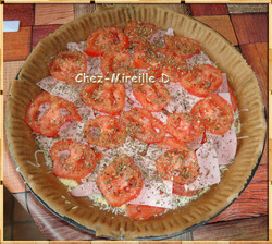 Quiche/Pizza Jambon Tomates