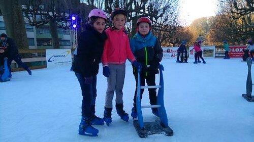 A la patinoire...