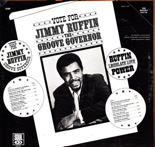 "Jimmy Ruffin : Album "" The Groove Governor "" Soul Records SS 727 [ US ]"