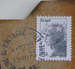 """Carte postale """"Echantillons de tissus"""""""