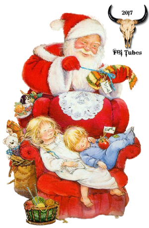 Tube Père Noël vintage