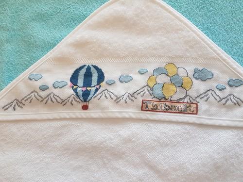 serviette de bain montgolfière