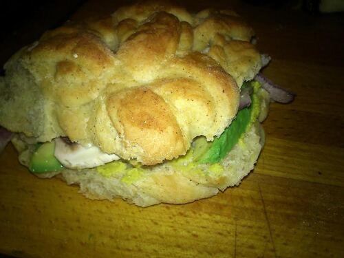 Sur le pouce : Sandwich brioché aux crudités
