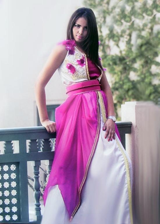 Caftan marocain haute couture pour mariage marocain, caftan simple sans manches broderie moderne KAF-S841