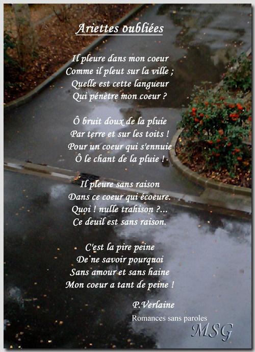 Un poème d'actualité