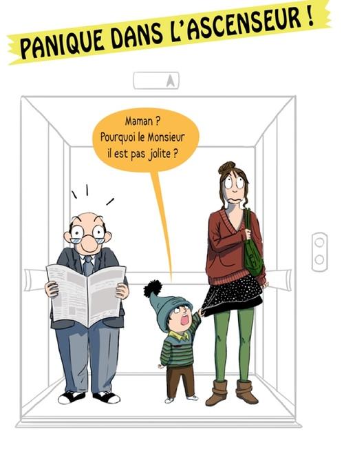 Panique dans l'ascenseur!