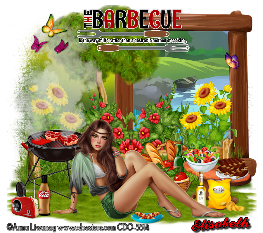 "Ma réalisation du tuto ""The Barbecue"""