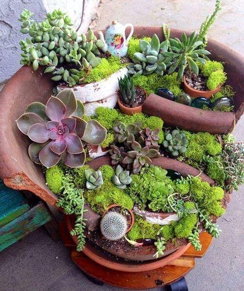 Récup / récup ..au jardin