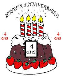 Déjà 4 ans ! Joyeux anniversaire !