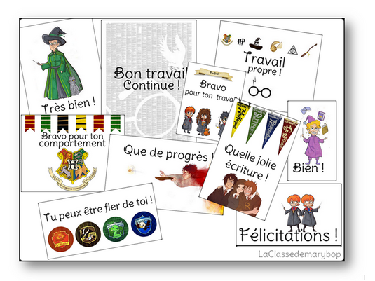 Cartes compliments Harry Potter