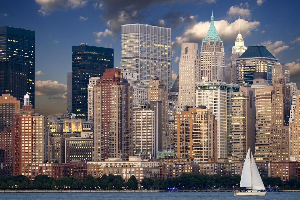 New York, Skyline, Manhattan, Hudson, Gratte Ciel