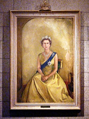 Ottawa parlement portrait Elisabeth