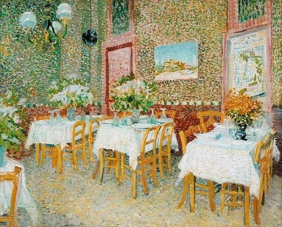 Vincent Van Gogh, Intérieur d'un restaurant à Paris