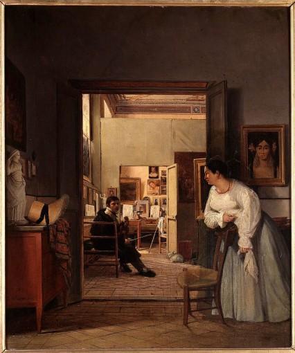L'Atelier d'Ingres à Rome en 1818