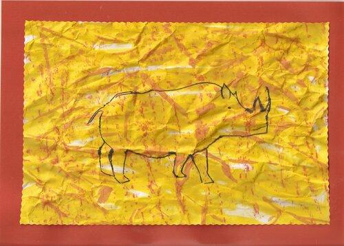 production peinture rupestre originale, inspirée de Themamaternelle
