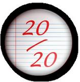 20/20 texte décoré pour corrections de cours