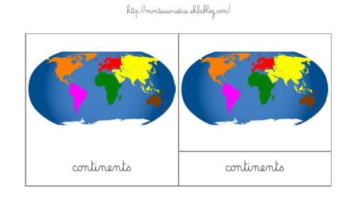 Nomenclatures : Continents