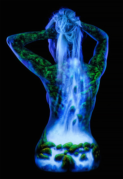 Black Light Bodyscapes par John Poppleton