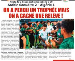 EN U20 Vice-Champion Arabe