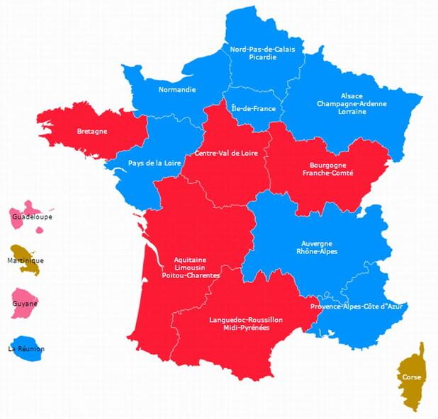 La carte de la dette des régions métropolitaines ... !!!