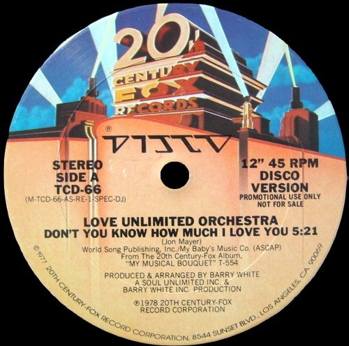 "The Love Unlimited Orchestra : Album "" My Musical Bouquet "" 20th Century Fox Records T-554 [ US ] en Avril 1978"