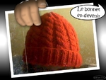 Bonnet grenadine torsades et pompon