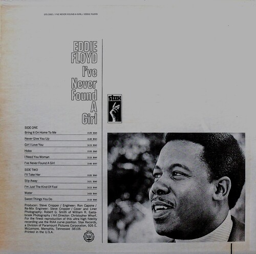 "Eddie Floyd : Album "" I've Never Found A Girl "" Stax Records STS 2002 [ US ]"