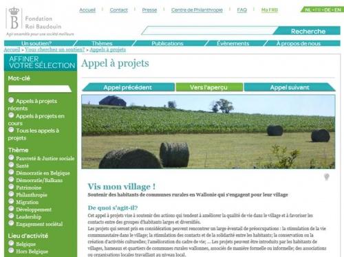 Appel à projet : Vis mon village