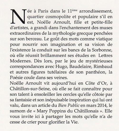 Rencontre avec Noëlle Arnoult, poète châtillonnaise...