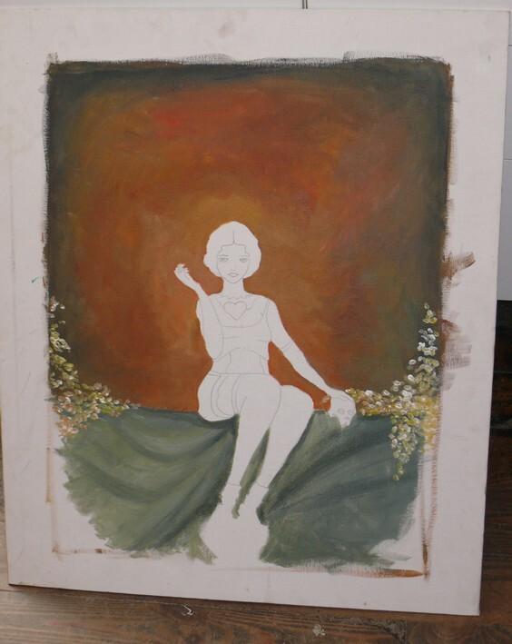 tableau acrylique fond terminé oska & co creations