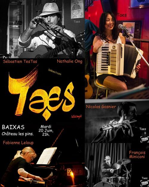 Concert TAES le mardi 20 juin à Baixas
