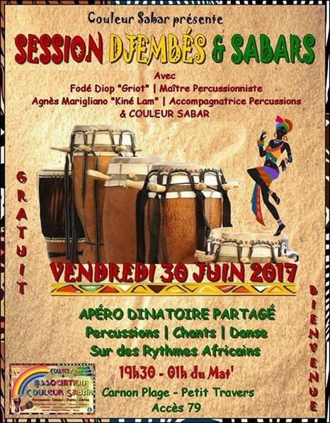 ★ Session Percussions | Plage [30 Juin 2017]