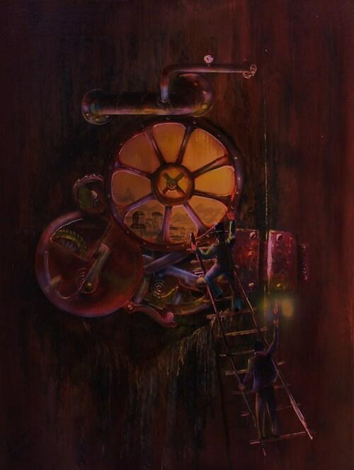 les prisonniers du temps <acrylique sur toile 8f>