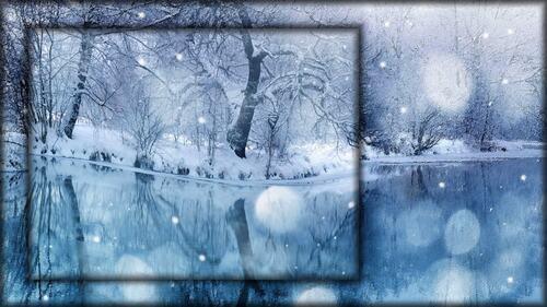 fond lac bleu