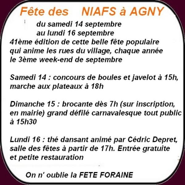 La fête des Niafs et les loisirs à Arras et ses environs ce week-end.