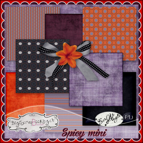 Kit Spicy mini de Scrap'Angie.