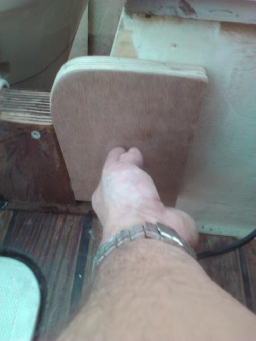 Reparation de la chaise/support du moteur  hors-bord