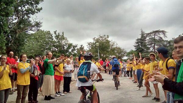 Départ du Pèlerinage VTT à Rocamadour