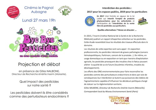 Projection Bye bye pesticides et Vino Veritas